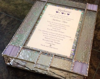 Custom stained glass invitation boxes