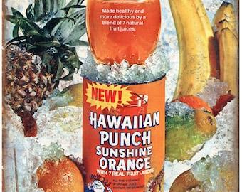 "Hawaiian Punch Orange Juice Vintaege Ad 10"" X 7"" Reproduction Metal Sign N127"