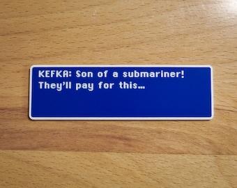 Kefka - Son of a Submariner - Final Fantasy VI Dialog Box