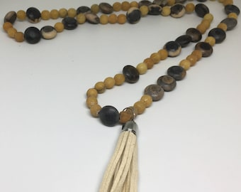Long tassel necklaces, beaded necklaces,bohemian jewelry
