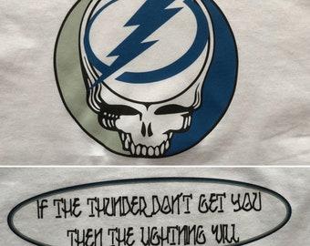 Grateful Dead Shirt-Tampa Bay Lightning The Wheel-Adult Uni T Shirt Sizes S M L XL XXL