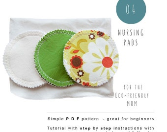 Nursing Pads PDF sewing pattern. Tutorial for instant download. Baby sewing pattern
