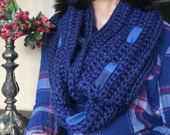 Oversized Infinity Scarf, Chunky Crochet Scarf, Crochet Scarf, Scarves, Chunky Circle Scarf, Womens Scarves, Scarves for Women, Xmas Gift