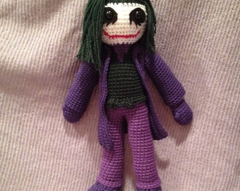 The Joker Crochet Doll