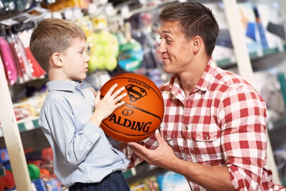 Customized Personalized Basketball Spalding Indoor/Outdoor Official Size Father's Day Gift Super Dad