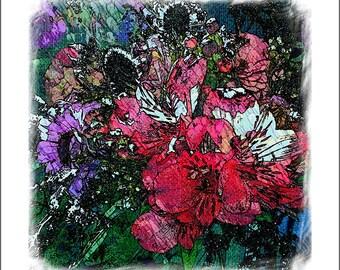 wild flowers Wedding Bouquet art artrageouskc Julie Flanagan