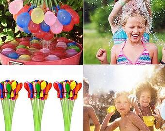 222 x Fast Fill Magic Water Balloons Bombs Self Tying Balloon Toys