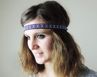 Boho headband, Aztek headband, Tribal headband, Yoga headband, festival headband, bohemian, boho chic