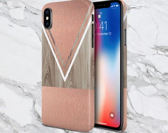 Scratched Rose Gold Wood Phone Case,  iPhone X, iPhone 8 Plus, Protective iPhone Case, Galaxy s9, Samsung Galaxy Case Note 8, CASE ESCAPE