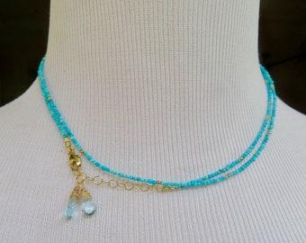 Turquoise Wrap Necklace, Turquoise Wrap Bracelet, Arizona Turquoise Jewelry, Turquoise Bracelet, Real Arizona Turquoise, Turquoise Necklace