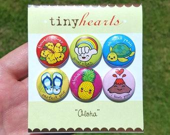 """Aloha Set - 1"""" Cute Kawaii Hawaii Magnets"""