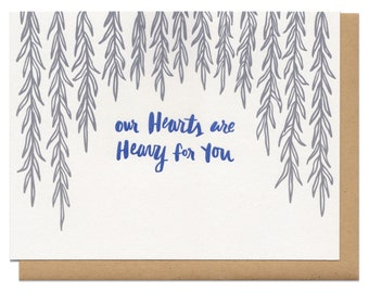 Our Hearts Are Heavy For You Greeting Card
