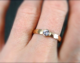 white sapphire reflection ring