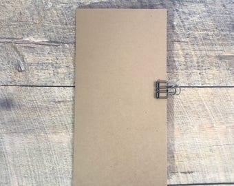Kraft Travelers Notebook Insert - Midori Insert - Planning Insert - Neutral Color - Scrapbook Insert - Art Journal Insert - Various Sizes