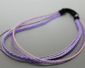 Shades of Lavender Adjustable Beaded Headband