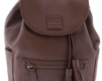 Handmade Women's Genuine Italian Leather Backpack - 40 Harrison