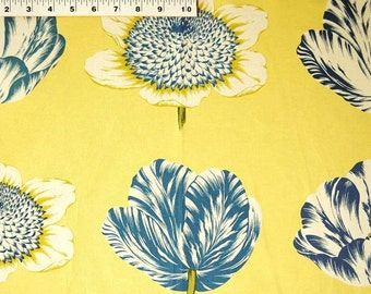 Tulipomania Bluebell, Fabric By The Yard, Williamsburg Collection, Waverly Fabrics