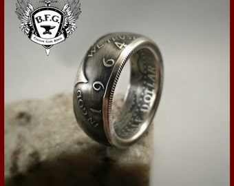 Kennedy Silver 1964 Half Dollar Coin Ring