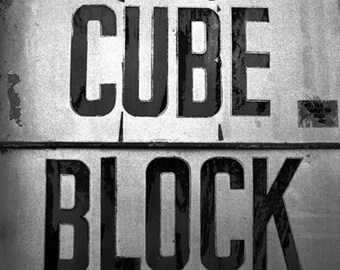 Cube Block black and white, photograph