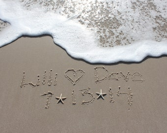 Write Your Names in the Sand Beach Writing Download & Print