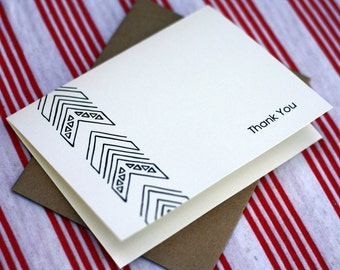 Tribal Notes #7 - A2 Printable Thank You Card (One Design)