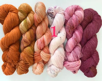 What the Fade set - hand dyed yarn