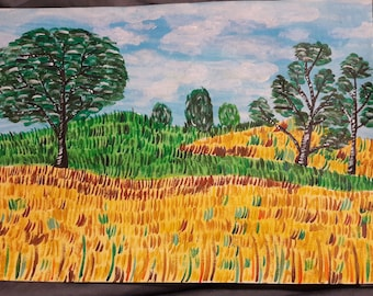 The wheat fields, Burgundy