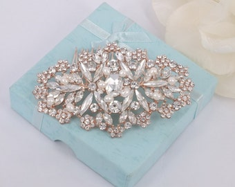Sophia - Swarovski Rhinestone and Freshwater Pearl Bridal Comb