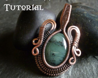 TUTORIAL - Temporal Vessel - Wire Wrapped Pendant lesson for a Cabochon or Flat Bead - Jewelry Class, Lesson Necklace Pendant Wire Wrap