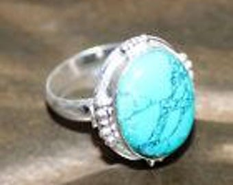 Turquoise Ring Size 10 Traditional Brazilian Turquoise
