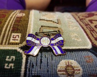 All Original Royal Hong Kong Jockey Club Enamel Brooch Badge 1954