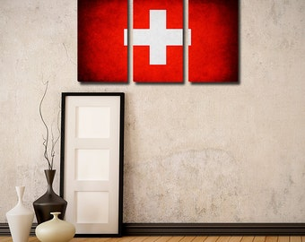 Switzerland Flag Triptych