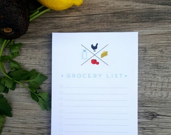 Grocery List Note Pad with Magnet