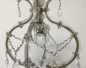 Sale Vintage Chandelier, Crystal Chandelier, Maria Theresa Chandelier, Crystal Beaded Chandelier, Wiring Comp USA, Free Shipping USA