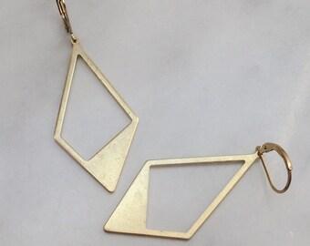 Big Geometric Gold Earrings