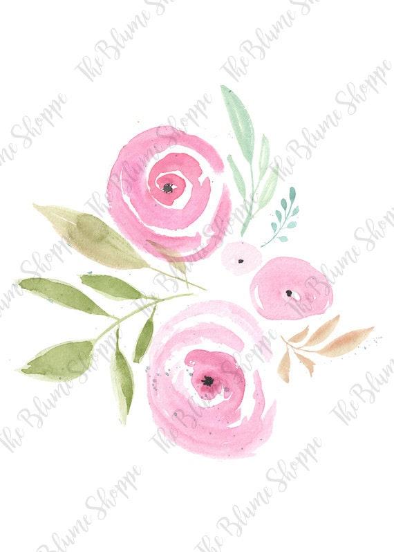 Pink Rosette Floral