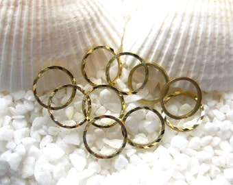 Brass Linking Rings - Unplated - 8mm round - 50 or 100 pcs