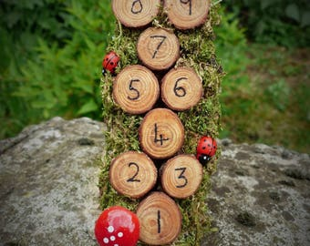 Fairy Hopscotch - Fairy Garden, Fairy House, Dollhouse Accessories, Miniatures, Natural Materials, Garden Fairy, Faery Gift, Tooth Fairy
