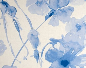 Braemore Curtains Blue Curtain Panels Unlined Modern Floral Curtains 50x63 - 50x108