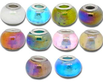 Bead, Lampwork, mixt of color, set of 10