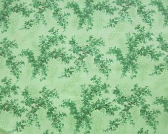 """1/2 yard of 100% cotton """"Green leaf"""" fabric"""