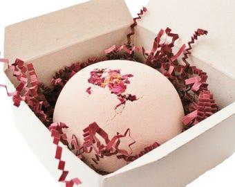 Bath Bomb Gift, Spa Bath Bomb, Valentines Gift, Bath Bomb, Rose Bath Bomb, Gift for Her, Spa Bath, Gift for Women, Pink Bath Bomb, Bath Gift