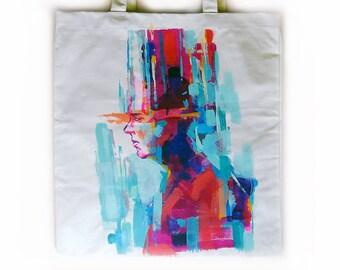 Artistic tote bag