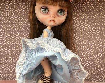 Blythe/Pullip Vintage Dress 'Crinoline Lady' Victorian Style, Steampunk Crinoline Dress Blythe