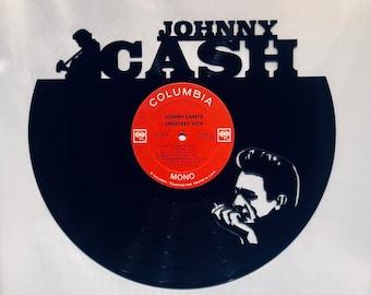 JOHNNY CASH Vinyl Record Wall Art