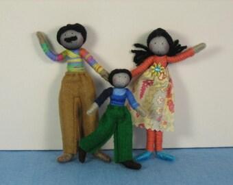 Dolls House Doll set - customisable- (The Autumn Family)