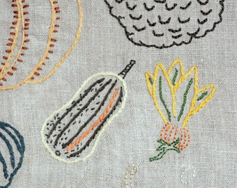 Makes: Winter Squash Worth Growing - Embroidery pattern and instruction booklet