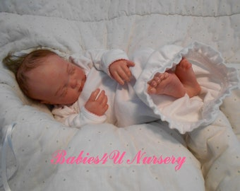 Reborn Baby Girl, Newborn, Infant, Lifelike, Realistic, Fake Baby, Sleeping Reborn, by Babies4U Nursery