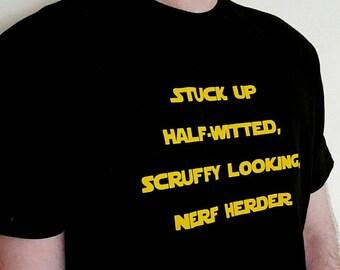 Nerf Herder T-Shirt, Christmas Day Gift, Boyfriend Anniversary Gift, Husband Birthday Present, Movie Quote T-Shirt, Geek Boy Gift,