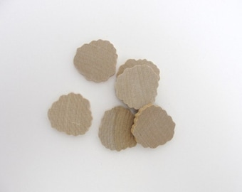 Pansy cutout wood diy unfinished set of 6